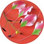 Цветы из фоамирана, проволока