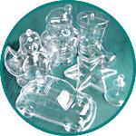 Прозрачные предметы для декорирования из пластика