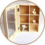Шкатулка-шкафчик с прозрачной крышкой, заготовка для декора