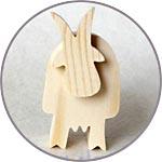 Деревянная козочка - символ 2015 года