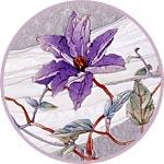 Кинусайга, картина с цветком