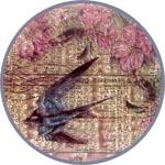 Штампы силиконовые для скрапбукинга и декора ласточка и цветы