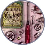Штамп силиконовый для скрапбукинга старинные инструменты