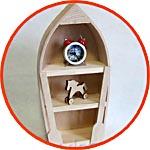 Фигурка деревянная - лодка-полочка