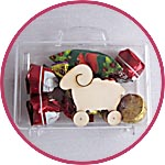 Прозрачный чемоданчик - упаковка для конфет и подарков