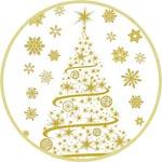 Декоретто наклейки новогодние купить