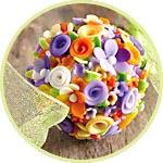 Декор из пластики - шар цветочный
