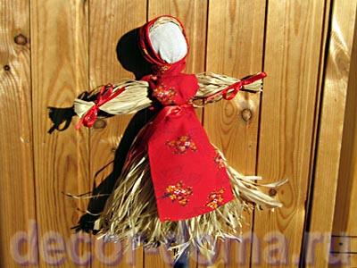 Кукла - масленица из лыка, мастер-класс