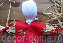Кукла-масленица из лыка, мастер-класс, шаг 6