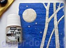 Заливаем контуры краской Пебео Лунные Фантазии