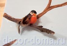 Размещение птички-снегиря