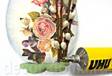 Пасха, мастер-класс, яйцо с цветочками и вербой