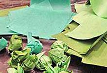 Нарезка и скатывание папиросной бумаги