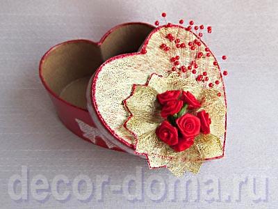 Валентинка, коробочка-сердечко, мастер-класс