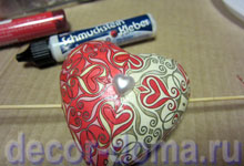 Валентинка, сердечко со стрелой, мастер-класс, перламутровое сердечко