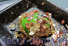 Пасхальные яйца яркие с золочением поталью, пошаговый мастер-класс