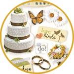 Объемные наклейки Свадьба