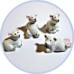 Миниатюрные белые мишки