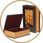 Декор деревянной шкатулки-книги