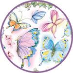 Рисовая декупажная салфетка бабочки