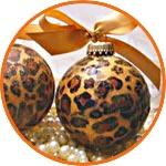 Заготовка для декора из папье-маше - шарики с декором Декопач