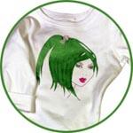 Декор футболки текстильными красками