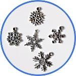 Подвески-снежинки
