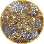 Поталь в крошке золото и серебро смесь