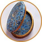 Шкатулка из папье-маше - декор бумагой Декопач