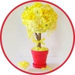 Топиарий - пенопластовый шар и декоративная бумага