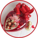Валентинка - пластиковое сердце декупаж и витражная краска