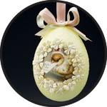 Пенопластовое яйцо декор
