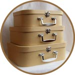 Картонная заготовка для декора - набор больших чемоданов